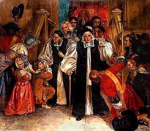 Seven Bishops - The Seven Bishops greet the crowd after their acquittal (title and artist unknown)