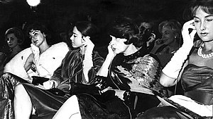 Cinema of Argentina - Iconic Argentine actresses in the 1961 Berlin International Film Festival: Isabel Sarli, Olga Zubarry, Tita Merello and Mirtha Legrand.