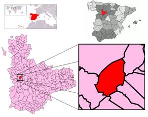 Adalia, Valladolid - Image: Adalia Mapa municipal