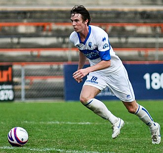 Adam Biddle (footballer) - Biddle playing for Sydney Olympic in 2009