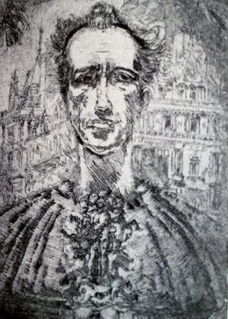 Clifford Addams - Etching: Self-Portrait (1927)