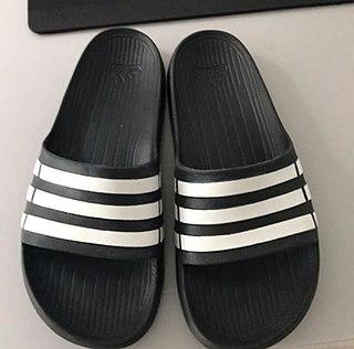 Slide (footwear) open-toed slip-on sandal