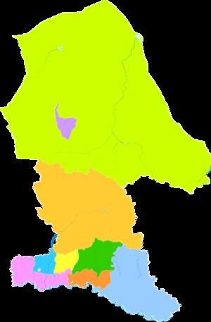 Baotou - Image: Administrative Division Baotou