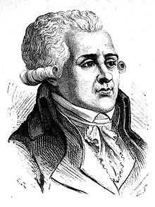 Portrait d\u0027Augustin Robespierre. Gravure d\u0027E. Thomas d\u0027après un dessin de  H. Rousseau, parue dans l\u0027Album du centenaire (1889).