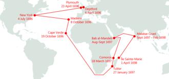 Adventure Galley - Image: Adventure Galley journey map