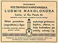 Advertisement Ludwik Makolondra (1914).JPG