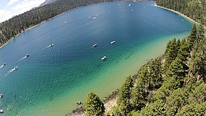 Emerald Bay State Park - Image: Aerial View of Emerald Bay