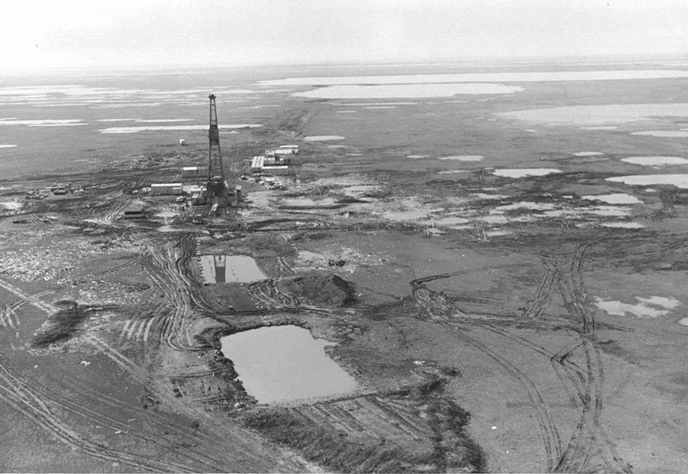 Aerial view of prudhoe bay
