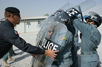 2nd Carabinieri Mobile Brigade - Afghan Police train with Italian Carabineri.