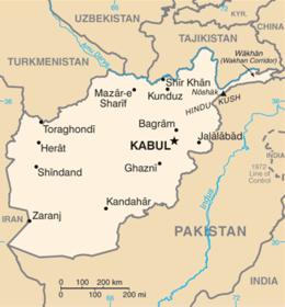 Afghanistan - Mappa