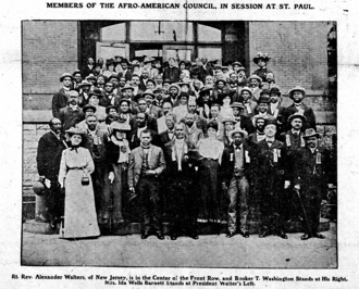 Alexander Walters - Afro-American Council at 1902 meeting in Saint Paul, Minnesota