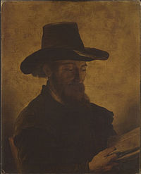 After Rembrandt - A Man Reading Cat483.jpg