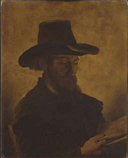 After Rembrandt - A Man Reading Cat483