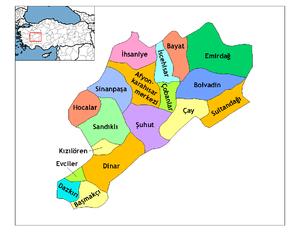 Afyonkarahisar haritası
