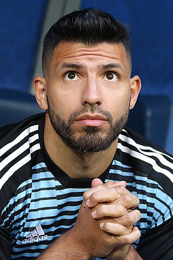 Sergio Aguero scored three hat-tricks this season, the most by a single player. Aguero in 2018.jpg