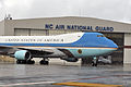 Air Force One arrives at Charlotte Air National Guard Base, N.C., June 6, 2013 130606-Z-AW931-612.jpg