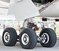 Airbus A350-941 F-WWCF MSN002 main landing gear ILA Berlin 2016 06 (cropped).jpg