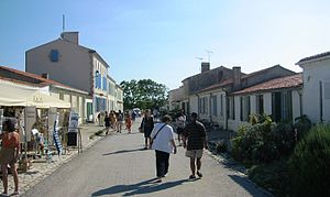 Raid on Rochefort - The main street in the village.