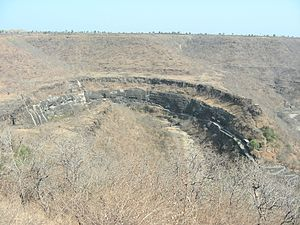 Vakataka dynasty - Image: Ajanta Caves, Aurangabad, Maharashtra, INDIA Bird's Eye View of a World Heritage Site