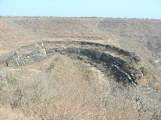 Vakataka dynasty - Image: Ajanta Caves, Aurangabad, Maharashtra, INDIA Bird's Eye View of a World Heritage Site