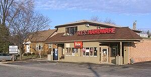 Al Suomi - Al's hardware store, in Countryside, Illinois.