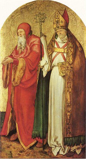 Jabach Altarpiece - Sts. Simon and Lazarus, 97×55 cm, Munich