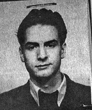 Bucharest student movement of 1956 - Alexandru Mălinescu, student at the Institute of Theatre, sentenced to 2 years' imprisonment