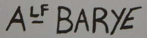 Alfred Barye - Image: Alfred Barye signature 2