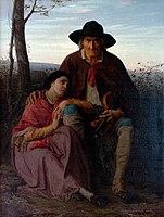 Alfred Delobbe 1866 Le violoniste aveugle et sa fille.jpg