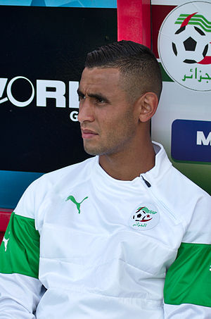 Faouzi Ghoulam - Ghoulam with Algeria national team during a match against Armenia.