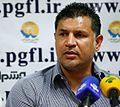 Ali Daei in press conference as Rah Ahan manager.jpg
