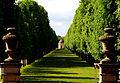 Allee mit Pavillon im Großen Garten Herrenhausen gesehen von der Freitreppe des Hardenbergschen Hauses.jpg