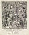 Allegorie op de inhuldiging van prins Willem Frederik als soeverein vorst, 1814 De verheffing van prins Willem den Zesden. Tot Souverein der Vereenigde Nederlanden (titel op object), RP-P-1908-2452.jpg