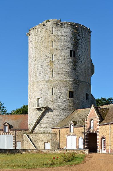 Keep (XIIIth century) of Alluyes castle - Eure-et-Loir, France.
