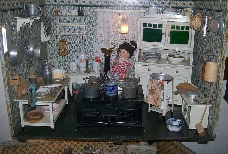 Kuchnia dla lalek w Domu Bajek w Alsfeld