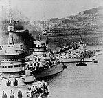 Altair altre tp Cesare e Cavour a Napoli fine anni Trenta (Naval History and Heritage Command).jpg