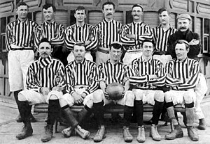 Alumni Athletic Club - The team of 1902 that won its 3rd. title.