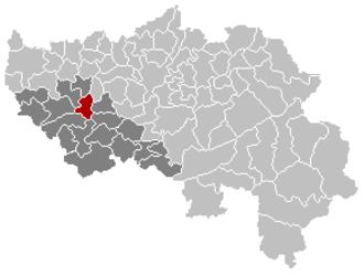 Amay - Image: Amay Liège Belgium Map