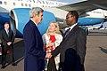 Ambassador Barks-Ruggles Introduces Secretary Kerry to Rwandan President Director Hategeka Upon Arrival in Kigali (30005668270).jpg