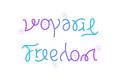 Ambigram Voyage Freedom.png