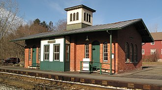 Amherst station (Massachusetts) - Amherst station in February 2008
