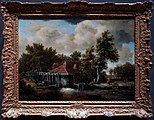 Amsterdam - Rijksmuseum 1885 - The Gallery of Honour (1st Floor) - Een Watermolen - A Water Mill 1664 by Meindert Hobbema.jpg
