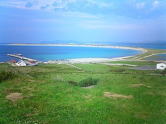Cloughaneely - A scenic view of Machaire Rabhartaigh strand and Muckish mountain, Cloughaneely
