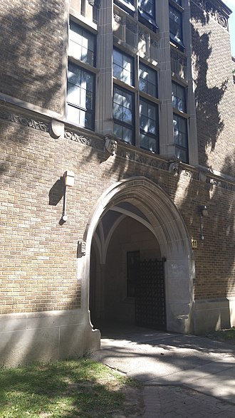 Northern Secondary School (Toronto) - An arched side entrance
