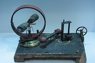 James Prescott Joule - An electric motor presented to Kelvin by James Joule in 1842. Hunterian Museum, Glasgow.