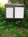 An empty display board^ - geograph.org.uk - 2181305.jpg