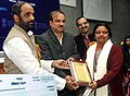 Ananth Kumar presented the 6th National Awards for Technology Innovation in Petrochemicals & Downstream Plastics Processing Industry, at a function, in New Delhi. The Minister of State for Chemicals & Fertilizers.jpg