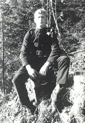 Anders Lange - Anders Lange in the Royal Guards in 1924.