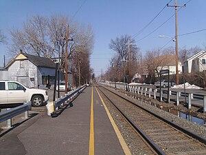 Anderson Street station - Anderson Street station facing Spring Valley-bound (northbound) in Hackensack