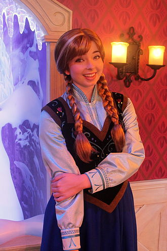 Anna (Disney) - Anna meet-and-greet at Disneyland in California in 2013.